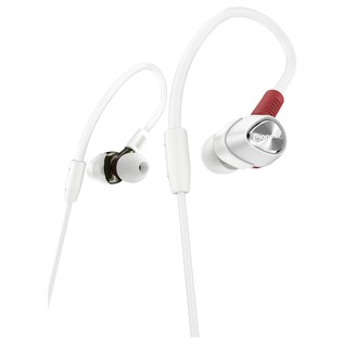 Pioneer DJE-2000 In-Ear DJ Headphones, White - Angled