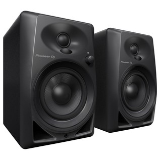 Pioneer DM-40 Active Monitor Speakers, Black - Angled