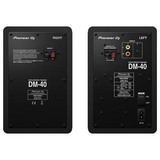 Pioneer DM-40 Active Monitor Speakers - Rear