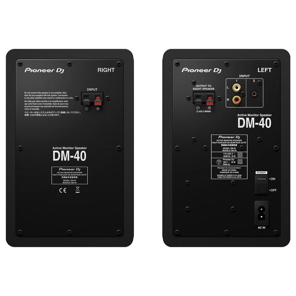 Pioneer DM-40 Active Monitor Speakers - Rear