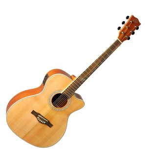 Eko TRI 018 CW EQ Electro Acoustic Guitar, Natural Front