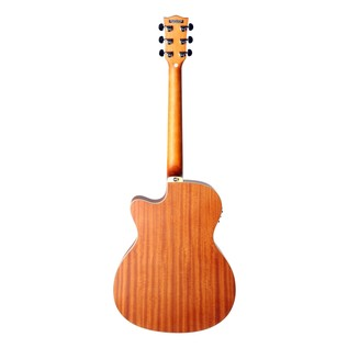 Eko TRI 018 CW EQ Electro Acoustic Guitar, Natural Back