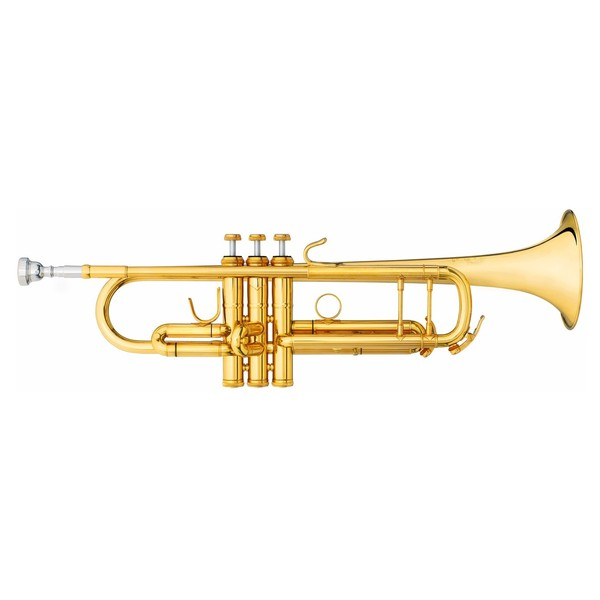 B&S Challenger II Trumpet, 43 Gold Brass Bell and Leadpipe, Lacquer