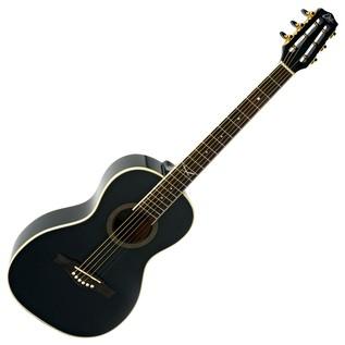 Eko NXT Parlor Acoustic Guitar, Black Front