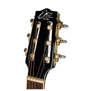 Eko NXT Parlor Acoustic Guitar, Black Headstock