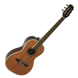 Eko NXT Parlor Acoustic Guitar, Natural Front