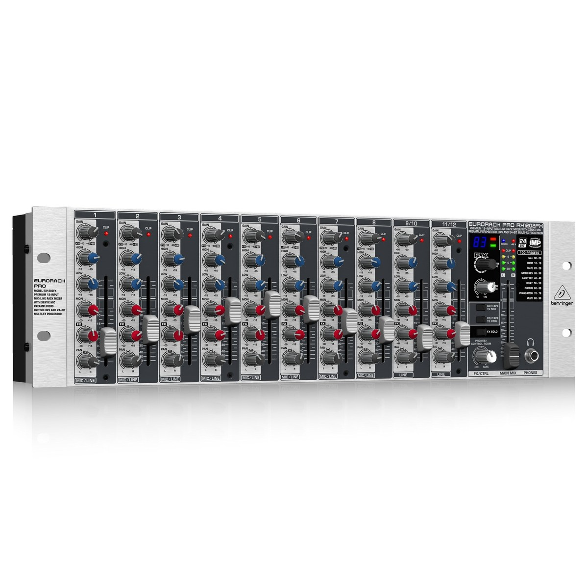 Behringer eurorack rx1202fx pro table de mixage gear4music - Table de mixage behringer ...