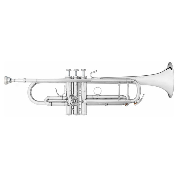 """B&S Challenger 2 Trumpet, 37"""" Bell, Reverse Leadpipe, Silver Plate"""