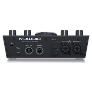 M-Audio M-Track 2x2M Audio Interface - Rear