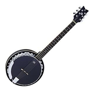 Ortega OBJ350/6-SBK Raven Series 6 String Banjo, Black Front