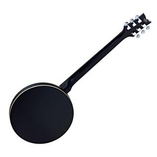 Ortega OBJE350/6-SBK Raven Series 6 String Electro Banjo, Black Back