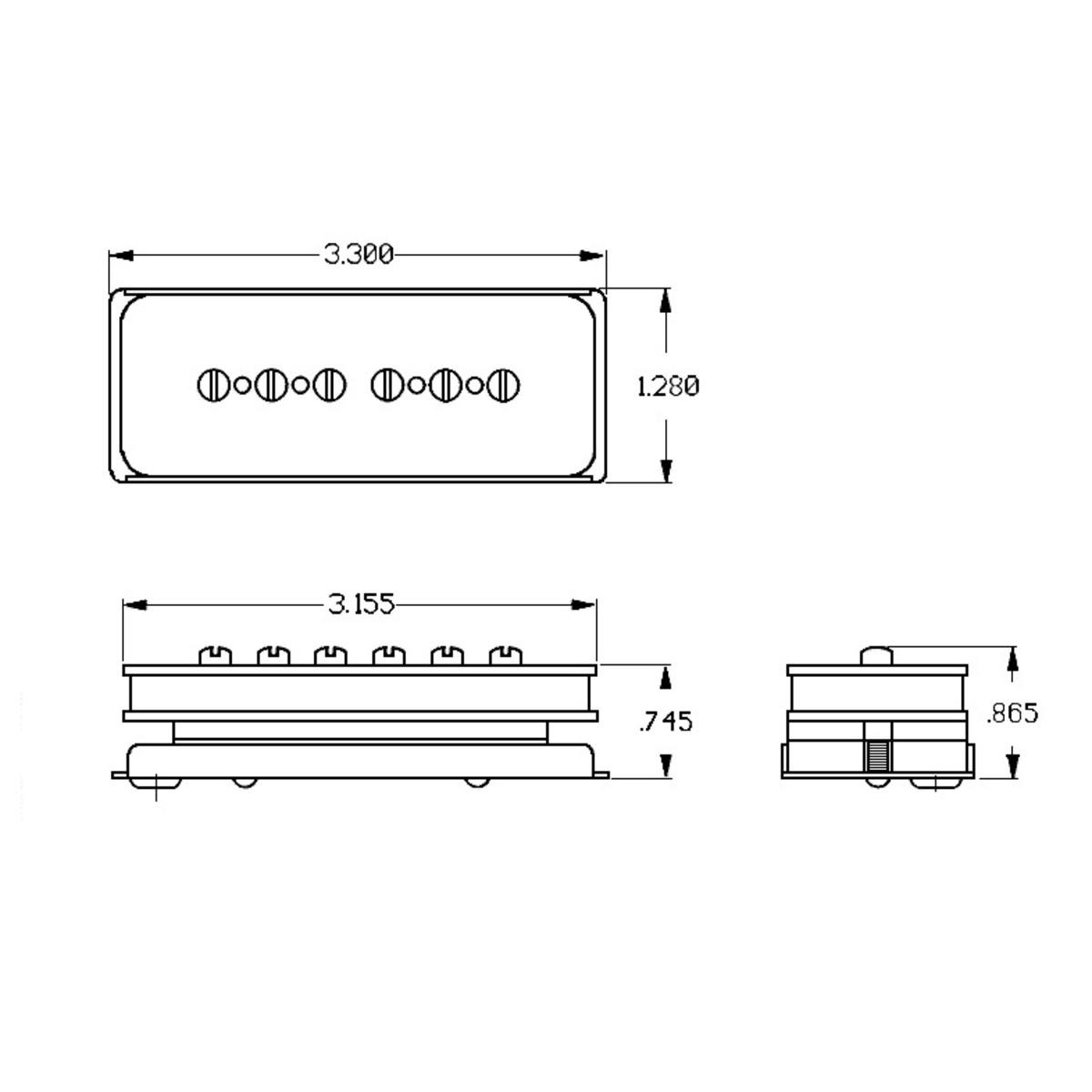Seymour Duncan Antiquity P90 Dog Ear Pickup Bridge Black At Gear4music Vox Wiring Diagrams Loading Zoom