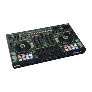 Roland DJ-808 DJ Controller with Case - Controller Angled 3