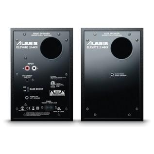 Alesis Elevate 3 MKII Active Studio Monitors - Rear