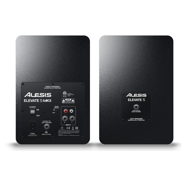 Alesis Elevate 5 MKII Active Studio Monitors - Rear