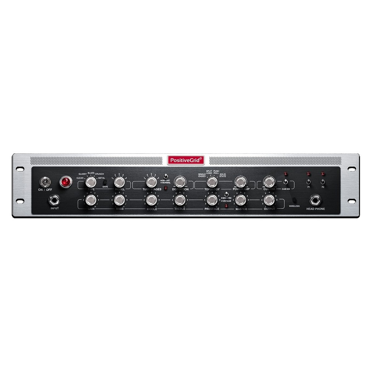 Positive Grid Bias Rack 600w Amp Match Rackmount Amplifier At Gear4music Audio Front Loading Zoom