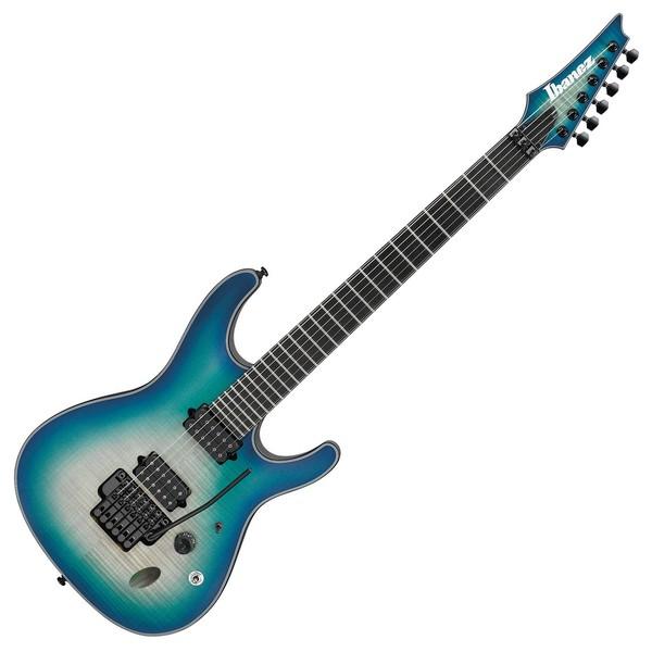 Ibanez SIX6DFM Iron Label Electric Guitar, Blue Space Burst