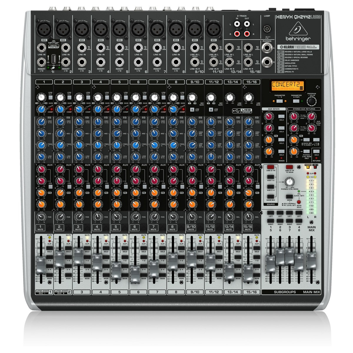 Behringer xenyx qx2442usb table de mixage gear4music - Table de mixage yamaha usb ...