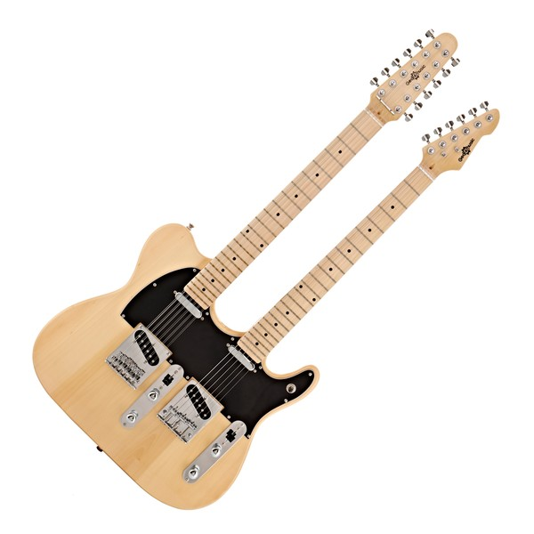 Knoxville Double Neck Guitar by Gear4music, Natural