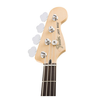 Deluxe Active Jazz Bass Guitar, Olympic White
