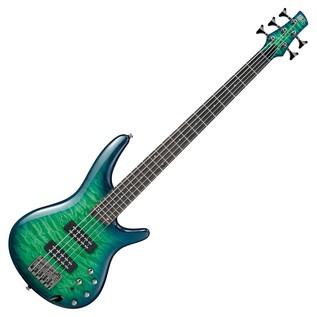 Ibanez SR405EQM Electric Bass, Surreal Blue Burst Gloss