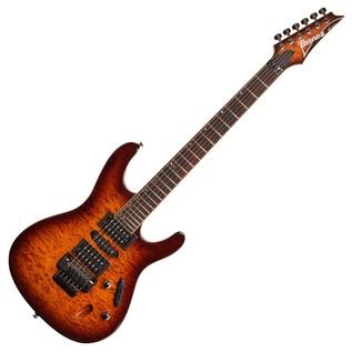 Ibanez S670QM Electric Guitar, Dragon Eye Burst