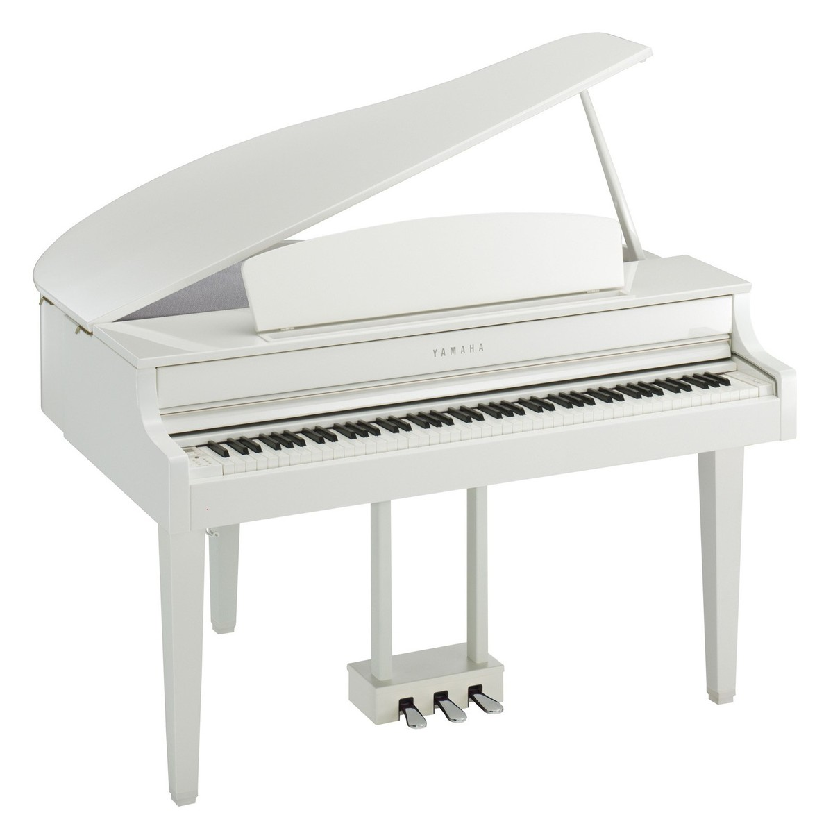 yamaha clp 665 digital grand piano polished white at gear4music. Black Bedroom Furniture Sets. Home Design Ideas