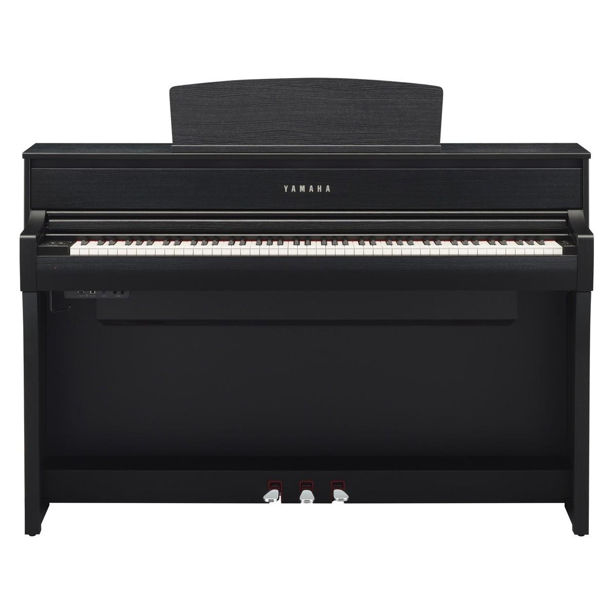Yamaha clp 675 digital piano satin black at for Yamaha clp 675