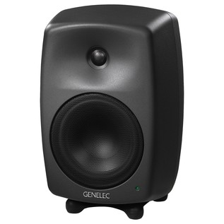 Genelec 8040A Smart Active Monitor, Dark Grey - Angled