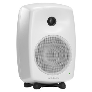 Genelec 8040A Smart Active Monitor, White - Angled