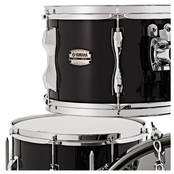 "Yamaha Recording Custom 20"" 4pc Shell Pack, Solid Black"