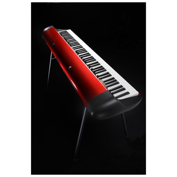 Korg SV-1 73 Note Stage Vintage Piano, Metallic Red Lighting