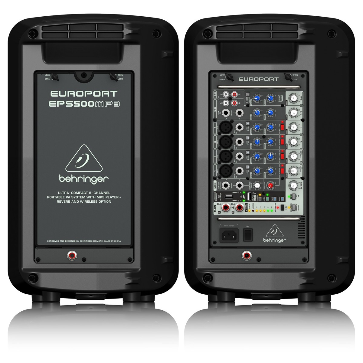 behringer eps500 mp3 portable pa system at gear4music. Black Bedroom Furniture Sets. Home Design Ideas