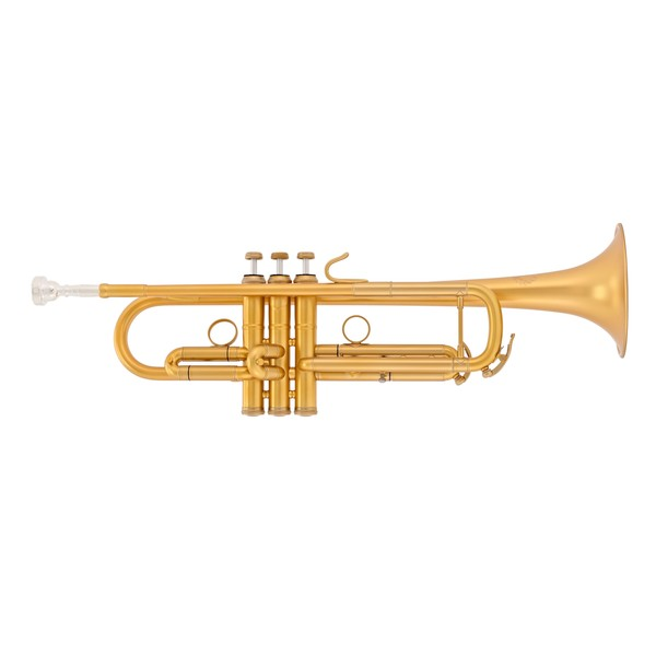 B&S MBX3 Heritage Trumpet, Brushed Gold Lacquer Finish
