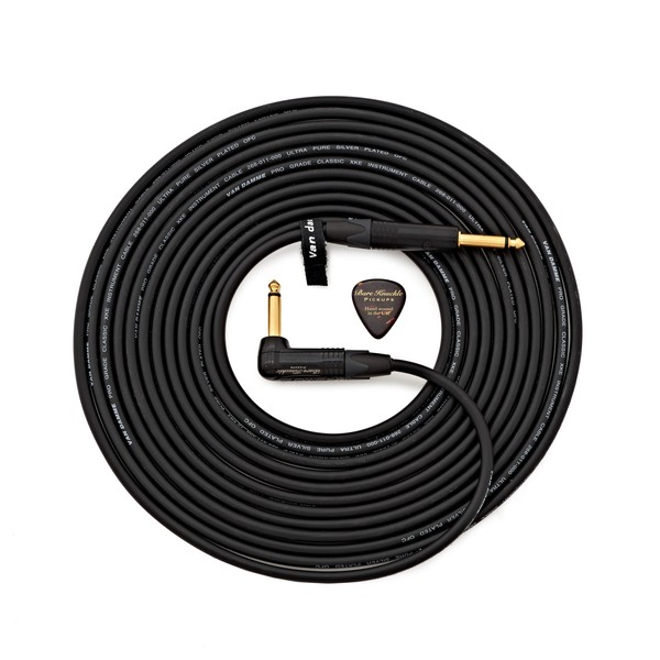 Bare Knuckle/Van Damme 10ft/3m Guitar Cable, Angled to Straight