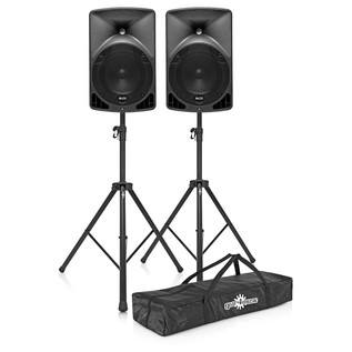Alto TX8 Active PA Speakers with Stands and Bag - Bundle