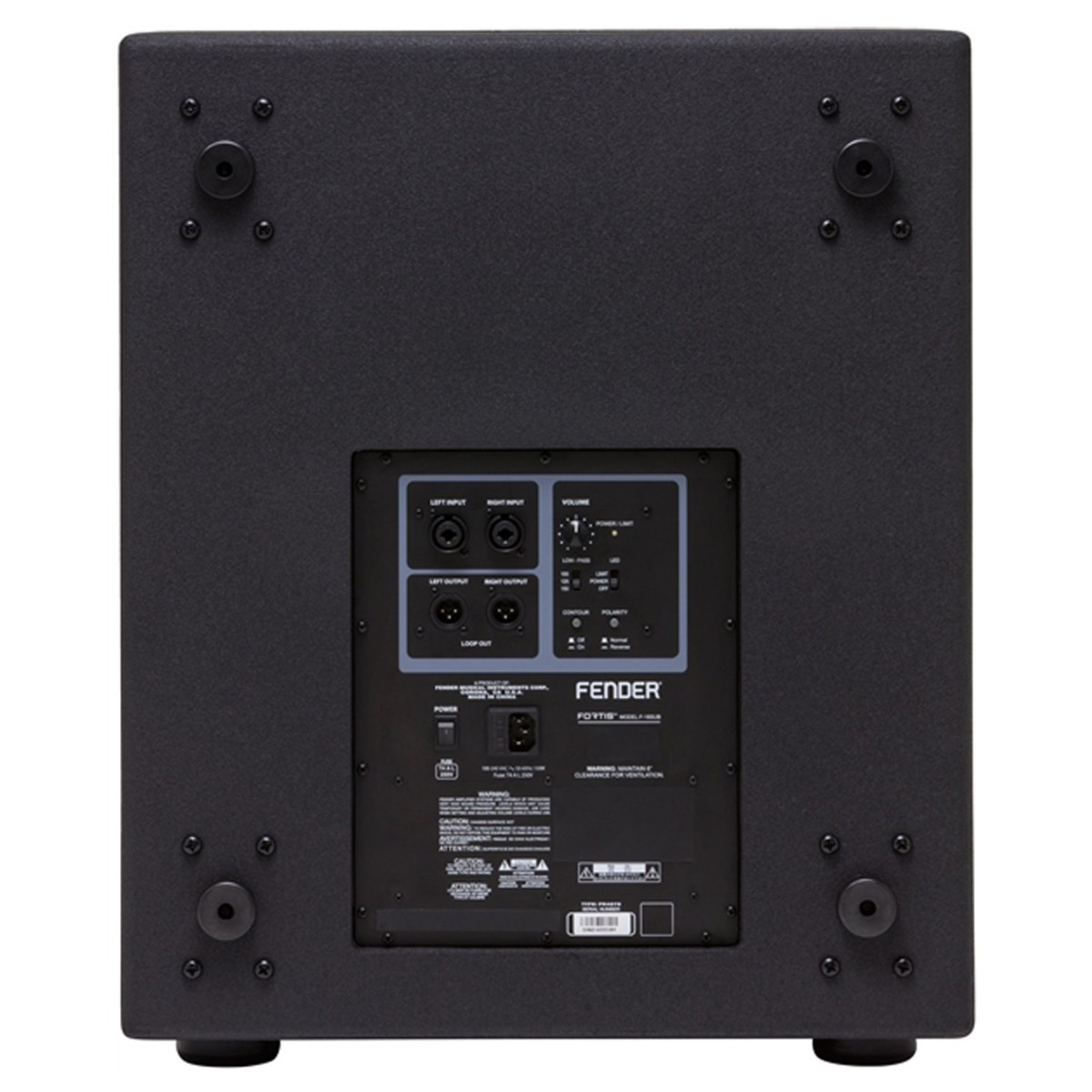 Fender Fortis F 18sub 18 Powered Subwoofer At Gear4music