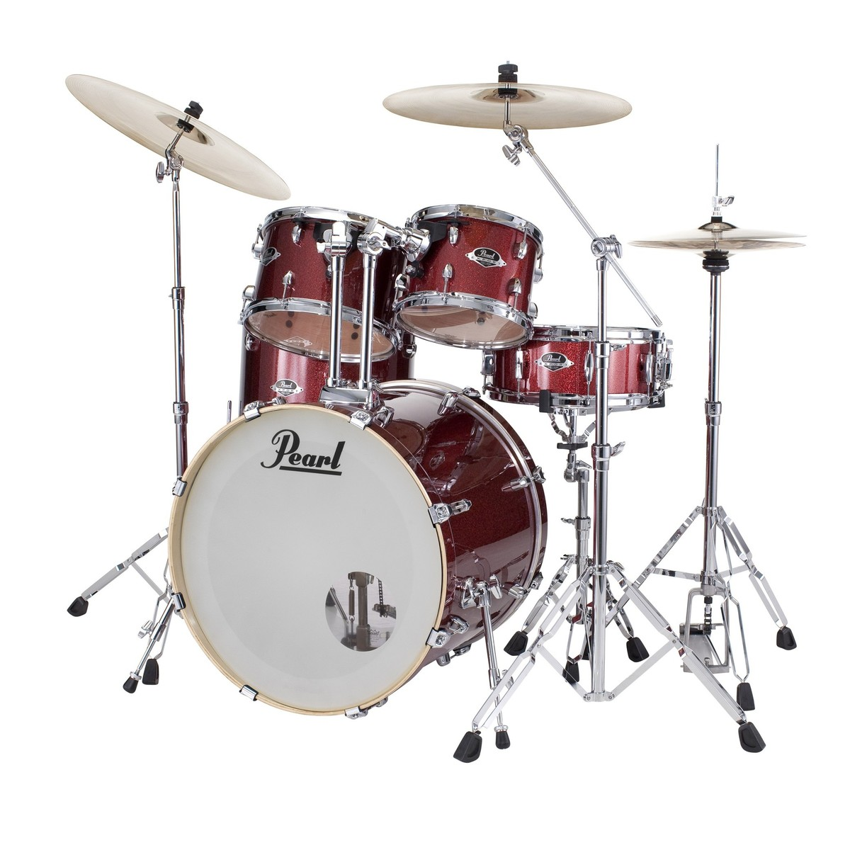 pearl export exx 22 fusion drum kit black cherry glitter at gear4music. Black Bedroom Furniture Sets. Home Design Ideas