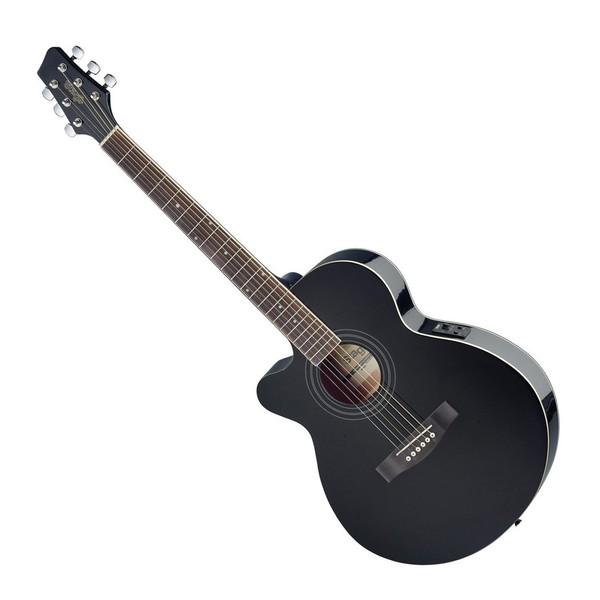 Stagg Electro Acoustic Mini Jumbo Cutaway Left Handed Black