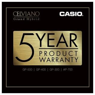 Casio Celviano AP700 5 Year Warranty