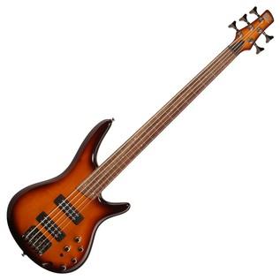 Ibanez SR375EF Fretless Bass Guitar, Brown Burst