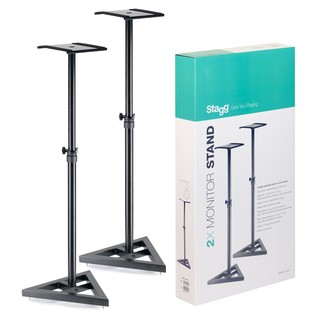 Stagg SMOS-10 Studio Monitor Stands, Pair - Bundle