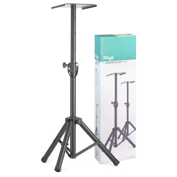 Stagg SMOS-20 Height Adjustable Monitor/Lights Stands, Pair - Main