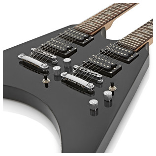 Houston Double Neck Guitar by Gear4music, Black