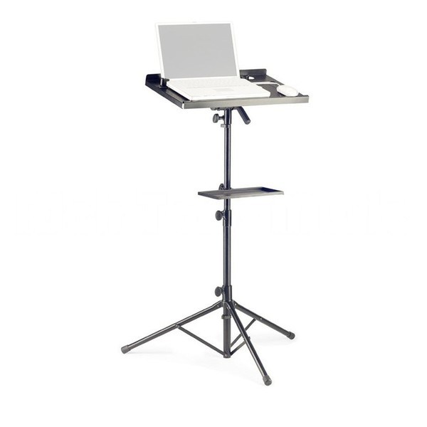 Stagg COS-10 Laptop Stand & Extra Table, Black - Stand (Laptop Not Included)