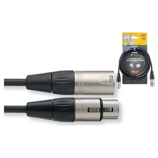 Stagg N-Series 3m Professional Microphone Cable, Black - Cable