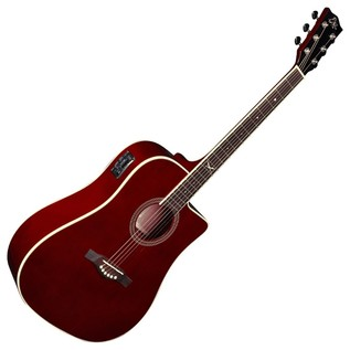 Eko NXT D CW EQ Electro Acoustic Guitar, Wine Red