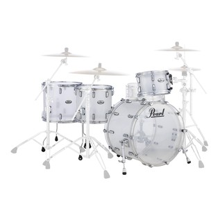 Pearl Crystal Beat 22'' Crossover 4 Pc Shell Pack, Frost Acrylic