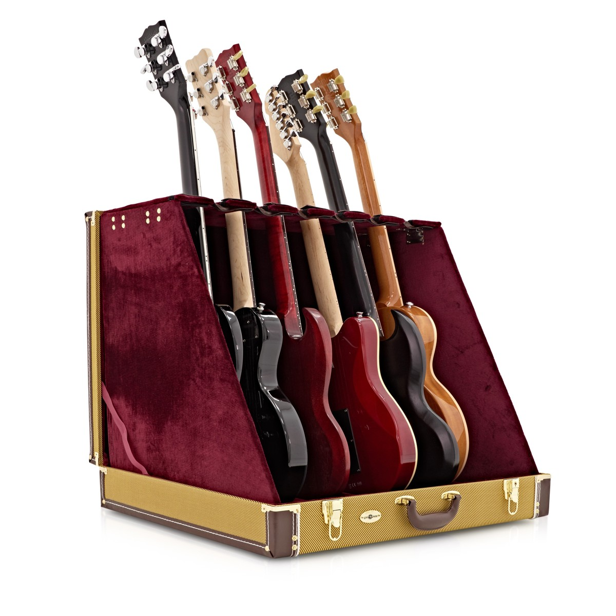 6 Guitar Rack Case By Gear4music Tweed At Gear4music