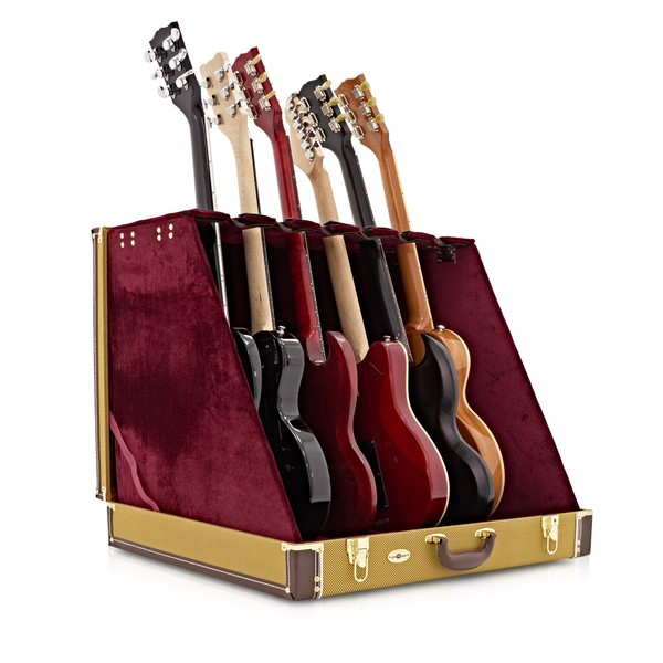 6 Guitar Rack Case by Gear4music, Tweed